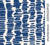 indigo vector tie dye seamless... | Shutterstock .eps vector #1005633910