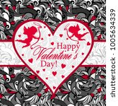 valentine's day greetings in a... | Shutterstock .eps vector #1005634339
