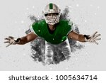 football player with a green... | Shutterstock . vector #1005634714