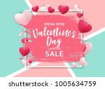 valentine's day love and... | Shutterstock .eps vector #1005634759