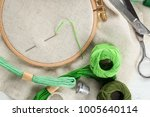 threads and other accessories... | Shutterstock . vector #1005640114