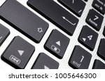 black keyboard close up   Shutterstock . vector #1005646300