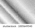 black and white dotted halftone ... | Shutterstock .eps vector #1005649540