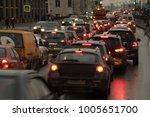 machine in a traffic jam | Shutterstock . vector #1005651700