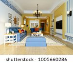 3d render of living room | Shutterstock . vector #1005660286