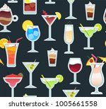 vector seamless beverage... | Shutterstock .eps vector #1005661558
