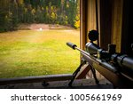 sniper rifle with silencer and... | Shutterstock . vector #1005661969