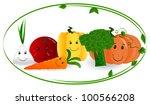 funny vegetables | Shutterstock .eps vector #100566208