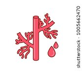 blood vessel icon  vector... | Shutterstock .eps vector #1005662470