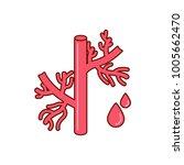 blood vessel icon  vector... | Shutterstock .eps vector #1005662470