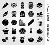 food and drinks icon set vector.... | Shutterstock .eps vector #1005679474