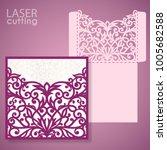 die laser cut wedding... | Shutterstock .eps vector #1005682588