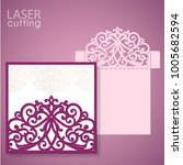 die laser cut wedding... | Shutterstock .eps vector #1005682594