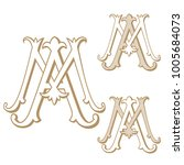 am or ma vintage monogram | Shutterstock .eps vector #1005684073