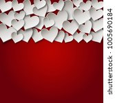 hearts border. valentine's day ... | Shutterstock .eps vector #1005690184