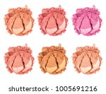 face powder. smears of... | Shutterstock . vector #1005691216