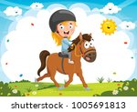 vector illustration of kid... | Shutterstock .eps vector #1005691813