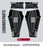 leggins pants fashion vector... | Shutterstock .eps vector #1005694966