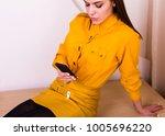 Beautiful Woman In Yellow Shir...
