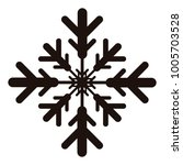 snowflake icon on a white...   Shutterstock .eps vector #1005703528