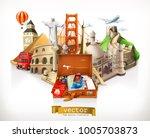 travel  3d vector illustration | Shutterstock .eps vector #1005703873