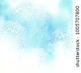 delicate watercolor sky... | Shutterstock . vector #1005707800