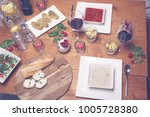 lovely diner food table | Shutterstock . vector #1005728380