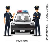 police officers team character | Shutterstock .eps vector #1005728488