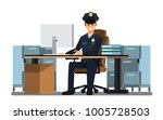 police officers office  police... | Shutterstock .eps vector #1005728503