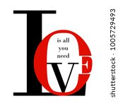 love is all you need. fashion... | Shutterstock .eps vector #1005729493