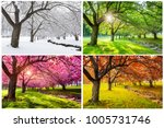 four seasons with japanese... | Shutterstock . vector #1005731746