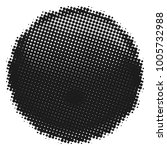 ball halftone style isolated on ... | Shutterstock .eps vector #1005732988