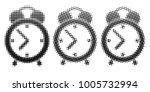 alarm symbol halftone style on... | Shutterstock .eps vector #1005732994
