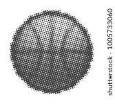 basketball halftone on white... | Shutterstock .eps vector #1005733060