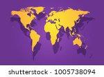 world map illustration.   Shutterstock .eps vector #1005738094