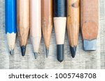 used wooden pencil isolated on...   Shutterstock . vector #1005748708