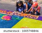 antigua  guatemala    april 14  ... | Shutterstock . vector #1005748846