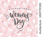 international women's day....   Shutterstock .eps vector #1005759100