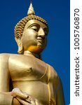 the buddha image with the sky... | Shutterstock . vector #1005760870