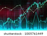 stock market or forex trading... | Shutterstock . vector #1005761449
