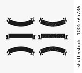 rustic banner and ribbon vector ... | Shutterstock .eps vector #1005765736