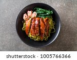 roasted duck with vegetable... | Shutterstock . vector #1005766366