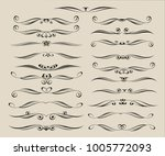 set of decorative elements.... | Shutterstock .eps vector #1005772093