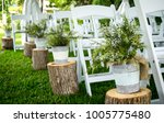 wedding ceremony venue with...   Shutterstock . vector #1005775480
