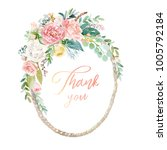 watercolor floral illustration  ... | Shutterstock . vector #1005792184
