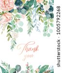 watercolor floral illustration  ... | Shutterstock . vector #1005792268