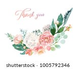 watercolor floral illustration  ... | Shutterstock . vector #1005792346
