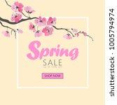 vector watercolor sakura...   Shutterstock .eps vector #1005794974