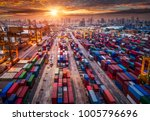 logistics and transportation of ... | Shutterstock . vector #1005796696