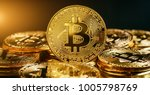 bitcoin cryptocurrency digital... | Shutterstock . vector #1005798769